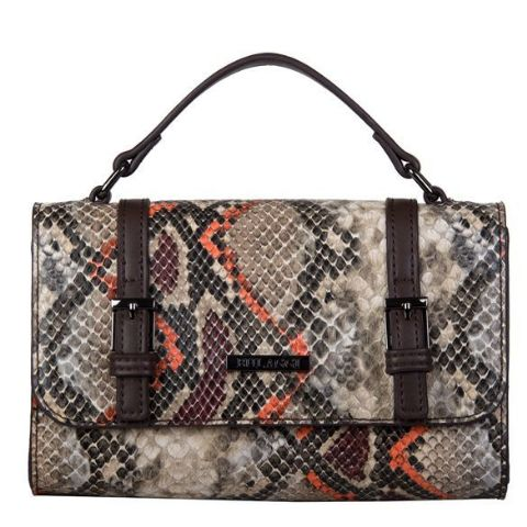 BULAGGI  Snake Print Rust Cross Body Bag